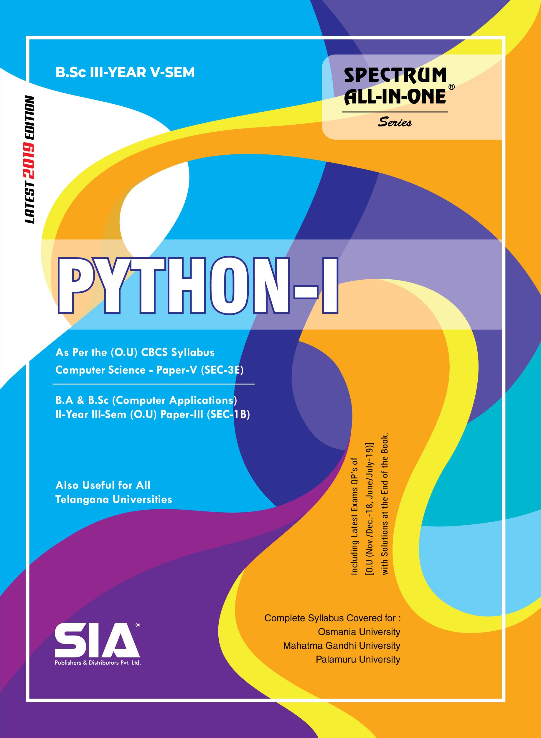SIA Publishers arts-and-science-bsc-osmania-university-IIIyear-Vsem